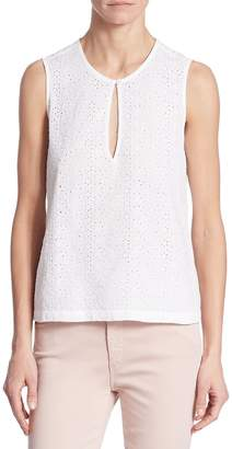AG Adriano Goldschmied Women's Bret Eyelet Shell Top