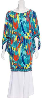 Trina Turk Abstract Printed Short Sleeve Tunic