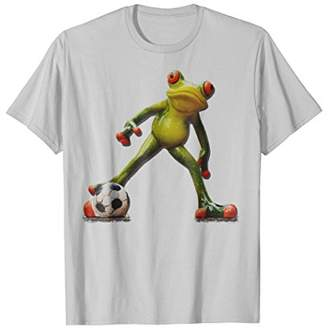 Frog Playing Soccer Humorous Graphic T-Shirt