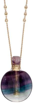 Jacquie Aiche Diamond & Fluorite Necklace - Womens - Purple