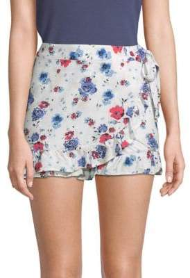Free People Flirting Floral Mini Skort