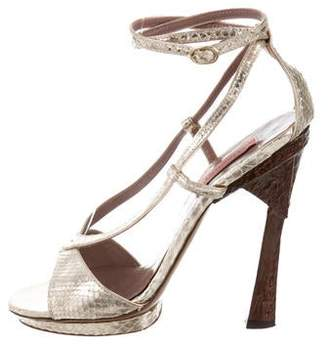 Missoni Python Ankle Strap Sandals
