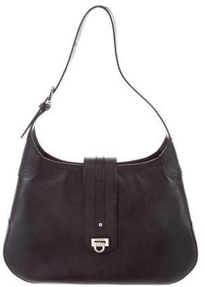 Pre-Owned at TheRealReal · Salvatore Ferragamo Gancini Leather Shoulder Bag abc7efa3c5b3d
