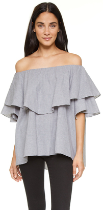 MLM LABEL Maison Off Shoulder Top $150 thestylecure.com
