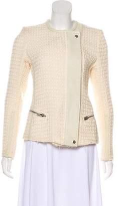 IRO Sari Leather-Trimmed Jacket