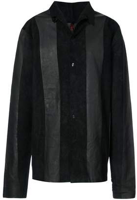 Ma+ panelled shirt jacket