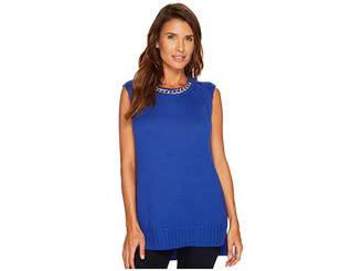 MICHAEL Michael Kors Chain Knitted Tank Top Women's Sleeveless