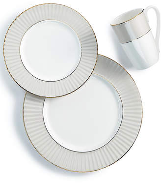 Lenox Pleated Colors Gray 3-Pc. Place Setting