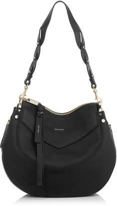 Jimmy Choo ARTIE Black Nappa Leather Shoulder Bag