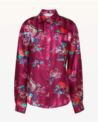 Juicy Couture Swan Floral Shirting Top