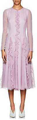 Prabal Gurung Women's Ruffle-Detailed Silk Long Dress