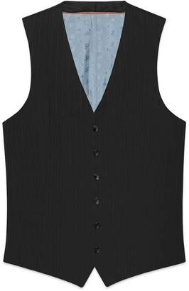 Gucci Mitford stripe wool formal vest
