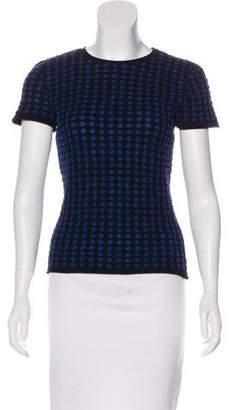 Armani Collezioni Short Sleeve Knit Top