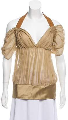 Philosophy di Alberta Ferretti Semi-Sheer Silk Top