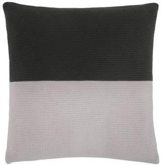 Narvi'k Narvik Block Stripe Knitted Cotton Cushion 45 x 45cm, Grey