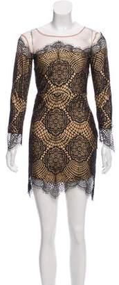 For Love & Lemons Long Sleeve Lace Dress