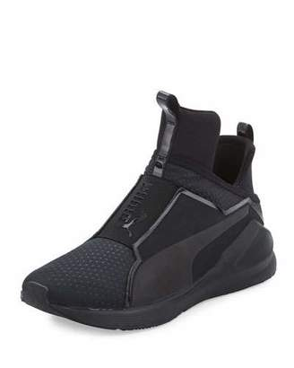 Puma Fierce Quilted High-Top Sneaker, Black $100 thestylecure.com