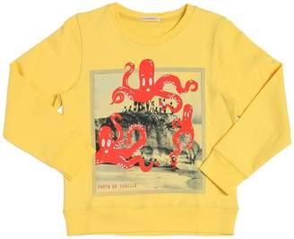 Octopus Printed Cotton Sweatshirt