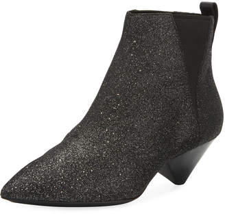 Ash Cosmos Glitter Pointed Booties