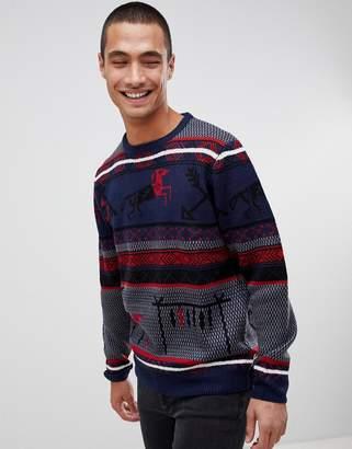 Bellfield Holidays Sweater Geo-Tribal Fairisle