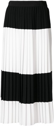 Mantu colour contrast pleated skirt