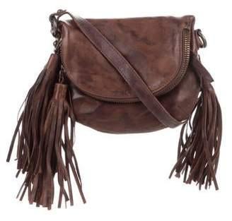 AllSaints Distressed Leather Crossbody Bag