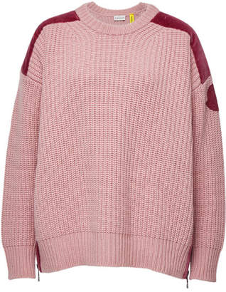 Moncler Pullover with Wool, Cashmere and Velvet