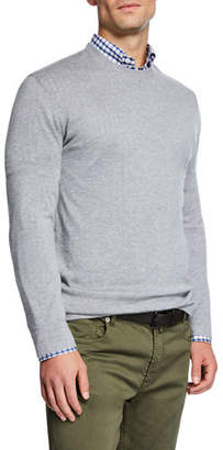 Neiman Marcus Men's Cashmere/Silk Crewneck Sweater