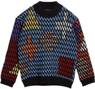 Burberry Multicoloured Cable Knit Wool Sweater
