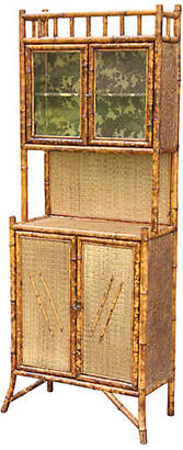One Kings Lane Vintage 19th-C. French Bamboo Cabinet - Faded Rose Antiques LLC
