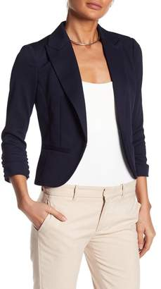 Amanda & Chelsea Pique 3/4 Length Sleeve Knit Blazer Jacket