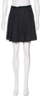 Jason Wu Pleated Wool Mini Skirt
