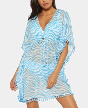 Bleu By Rod Beattie Bleu by Rod Beattie Printed Caftan Swim Cover-Up Women's Swimsuit