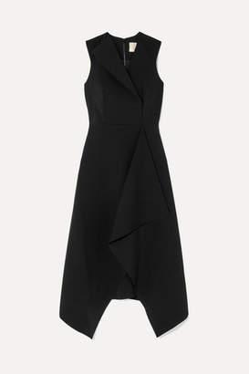 Dion Lee Folded Sail Draped Stretch-cady Midi Dress
