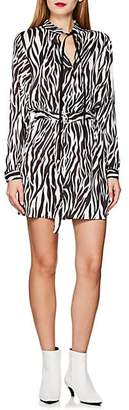 Robert Rodriguez Women's Zebra-Print Tie-Waist Dress - Black