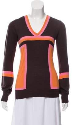 Maliparmi Silk Blend Colorblock Sweater