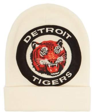 Gucci - Tiger Appliqué Wool Knit Beanie - Mens - White