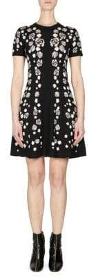 Kenzo Floral Short-Sleeve Fit-&-Flare Dress