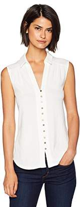 Lucky Brand Women's Button UP Tank TOP