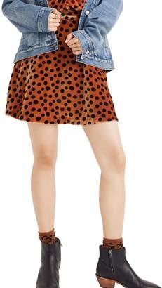 Madewell Velvet Circle Miniskirt