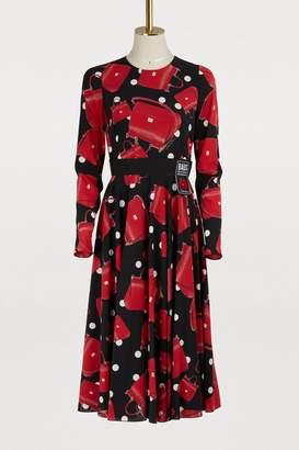 Dolce & Gabbana Sicily Bag printed silk dress