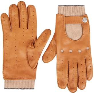 Brunello Cucinelli Cashmere-Lined Leather Gloves