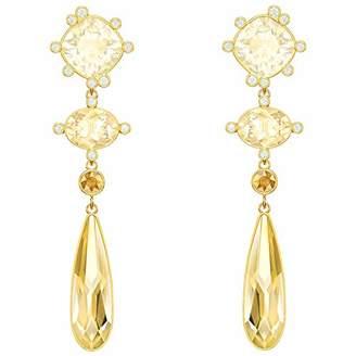 Swarovski Women Gold Plated Dangle & Drop Earrings 5456889