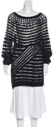 Barbara Bui Open Knit Long Sleeve Sweater