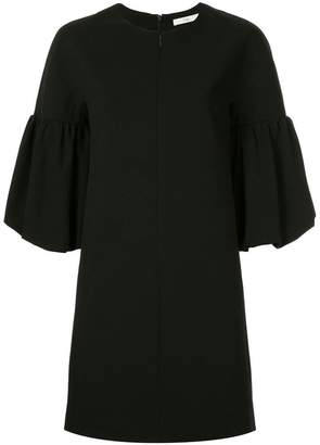 Tibi balloon sleeve crepe dress