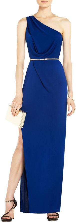 BCBGMAXAZRIA Snejana One-Shoulder Evening Gown