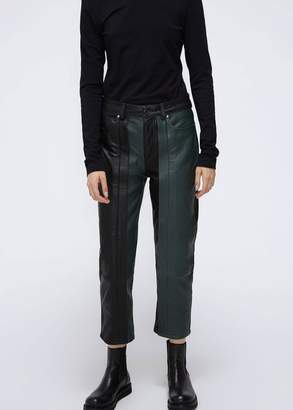 Aalto Leather Cropped Trousers