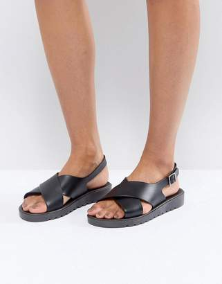 Asos DESIGN FREQUENT Jelly Flat Sandals