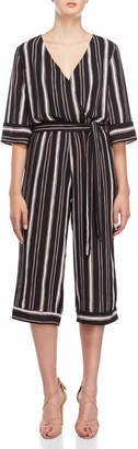 Bishop + Young Striped Belted Jumpsuit