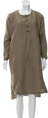Creatures of Comfort Silk Midi Dress Olive Silk Midi Dress
